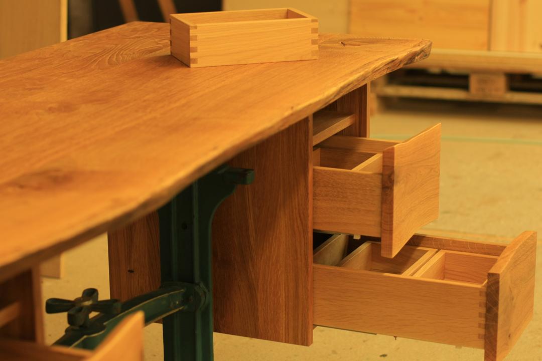 Schreibtisch Eiche Metallgestell - Austerbaum.de